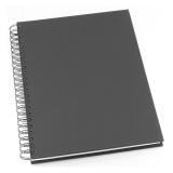 Notesbog Grieg Design spiral A4 linjeret sort