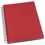 Notesbog Grieg Design spiral A5 linjeret rød