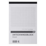 Notesbog A5 ternet, perforeret, 5 stk.