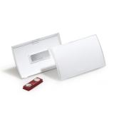 Nimikilpi Clic Fold magneetti 90x54 mm, 10 kpl