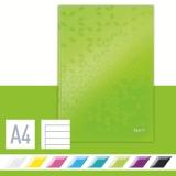 Notatbok Leitz WOW A4 Linj. 90g/80a grøn