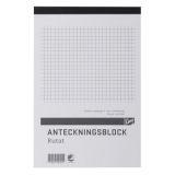 Notesbog A6 ternet, perforeret, 5 stk