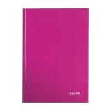 Notatbok Leitz Wow  A4 linjert rosa