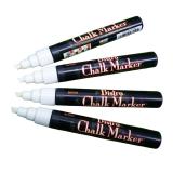 Blackboard Chalk Marker hvid skrå spids, 4 stk.