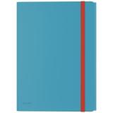 Leitz Cosy 3-klap mappe med lomme Blå