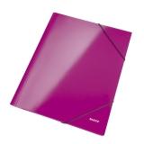 Kuminauhakansio LEITZ WOW A4 vaaleanpunainen